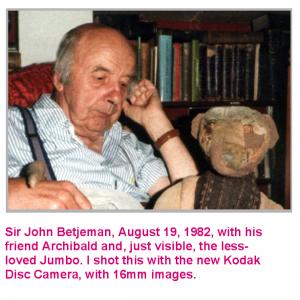 Sir John Betjeman with Archibald